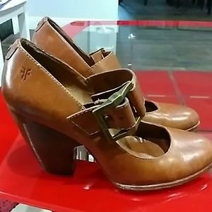 FRYE LEATHER BROWN SHOES SIZE 6.5